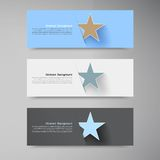 Vector banner background. White star Stock Photography