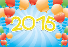 Vector banner. Balloons. Vector colorful banner. Balloons. 2015 year stock illustration