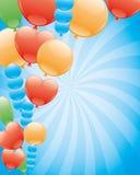 Vector banner. Balloons. Stock Photos