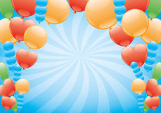 Vector banner. Balloons. Royalty Free Stock Image