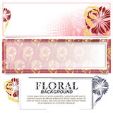 Vector banner on the basis of flowers Royalty Free Stock Photos