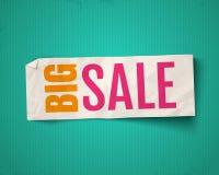 Vector banner for big sale. Vector illustration of a white paper on vintage background for big sale. Vector banner for big sale Stock Photos