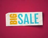 Vector banner for big sale. Vector illustration of a white paper on vintage background for big sale. Vector banner for big sale Stock Image