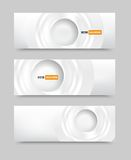 Vector banner blank circles 20.06.2013 Stock Images