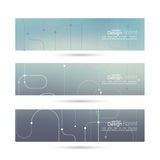 Vector banner with blurred abstract background Royalty Free Stock Photography