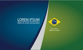 Vector Banner, Brazilian style, flag and inscription, vector. EPS 10 Stock Images