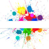 Vector Banner With Bright Ink Color Blots Royalty Free Stock Image