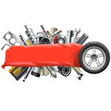 Vector Banner with Car Spares Royalty Free Stock Photo