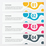 Vector banner cicle design  yellow, blue, pink color Royalty Free Stock Images