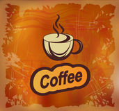 Vector banner with coffee Royalty Free Stock Images