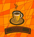 Vector banner with coffee Stock Images
