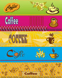 Vector banner with coffee . Royalty Free Stock Photos