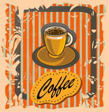 Vector banner with coffee . Royalty Free Stock Photo