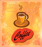 Vector banner with coffee . Royalty Free Stock Image