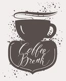 Banner for coffee house with cup of hot coffee Royalty Free Stock Image