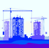 Vector banner of construction site Royalty Free Stock Images