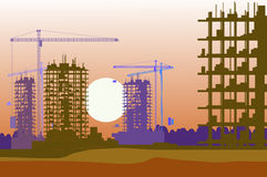 Vector banner of construction site Royalty Free Stock Photo