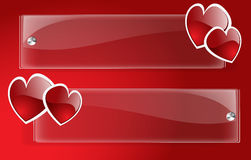 Vector Banner Day Valentine Stock Image