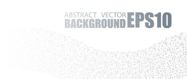 Vector banner design, connecting dots and lines. Global network connection. Geometric connected abstract background stock illustration