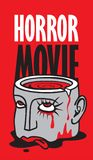 Banner for horror movie festival, scary cinema Royalty Free Stock Photography