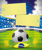 Vector banner. Football. Stock Photography