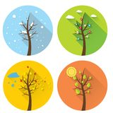 Vector banner - four seasons Royalty Free Stock Images