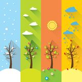 Vector banner - four seasons Royalty Free Stock Image