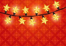 Vector banner. Garland. Royalty Free Stock Photography