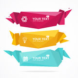 Vector banner Geometric Header Modern Stock Images