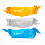 Vector banner Geometric Header Modern Royalty Free Stock Images