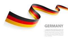 Vector Banner with Germany Flag colors. Vector Illustration Banner with German Flag colors in a perspective view vector illustration