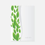 Vector banner with green leaves Royalty Free Stock Image
