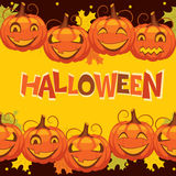 Vector banner halloween pumpkin Royalty Free Stock Photo