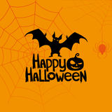 Vector banner. Happy Halloween. Stock Images