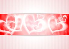 Vector banner with hearts Stock Images