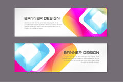 Vector banner infographic template. Processes Royalty Free Stock Photo