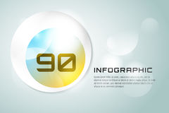Vector banner infographic template. Processes Stock Photography