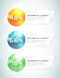 Vector banner infographic template. Processes Stock Photo