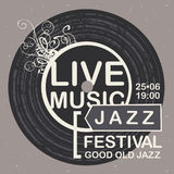 Vector banner for jazz festival live music Royalty Free Stock Photos