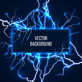 Vector banner with lightnings and discharge Royalty Free Stock Image