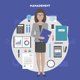 Vector banner management and administration Stock Image