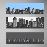 Vector Banner modern city Stock Images