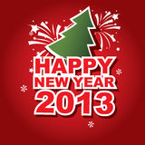Vector banner New Year 2013. Vector illustration,  banner New Year 2013 Royalty Free Stock Photos