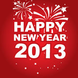 Vector banner New Year 2013. Vector illustration,  banner New Year 2013 Royalty Free Stock Photo
