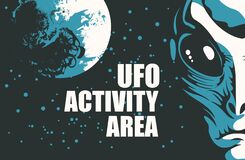 Free Vector Banner On The Theme Of Alien Invasion Stock Photos - 182323743