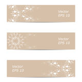 Vector banner of ornate beige color Stock Image