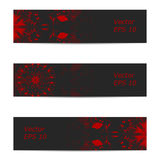 Vector banner of ornate dark gray red color Royalty Free Stock Photos