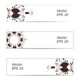 Vector banner of ornate white. Vector banner of ornaments. Eps 10 Royalty Free Stock Photo