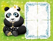 Vector banner. Panda. Stock Image