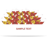 Vector banner red and yellow butterfly Royalty Free Stock Photo